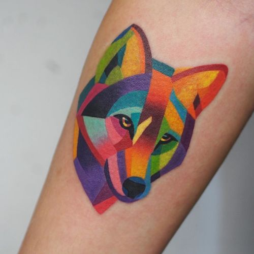 Technicolor Animal Portraits Inked in Watercolor Tattoos by Sasha Unisex