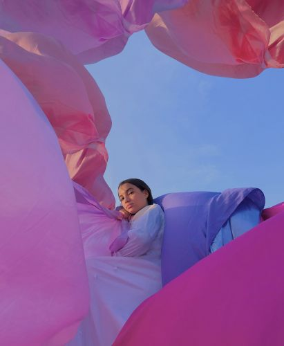 Through Billowing Pastels, Minimal Photos Express the Profound Connections of Family