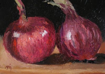 Red Onions, Palette Knife - SOLD