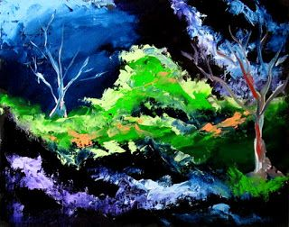 Mark Webster - Abstraction 22 - Abstract Landscape Oil Painting