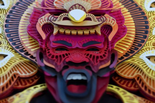 Evoking Fire and Air, Intricate Paper Masks by Artist Patrick Cabral Honor Filipino Culture