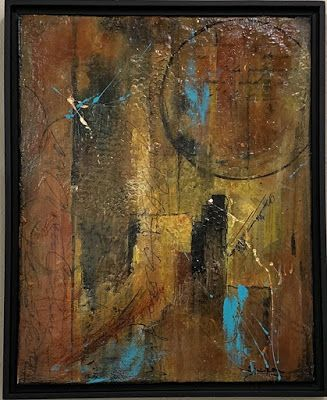 """Contemporary Art, Mixed Media,""""For This Day"""" by Texas Contemporary Artist Sharon Whisnand"""