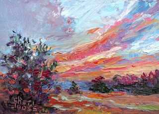 Sweeping Light, New Contemporary Landscape Painting by Sheri Jones