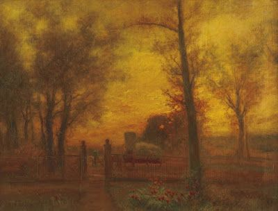 Charles Henry Miller, Passing a Gate at Sunset