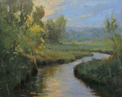 DPW Auction: High Water Spring - oil - 16x20 - SOLD!