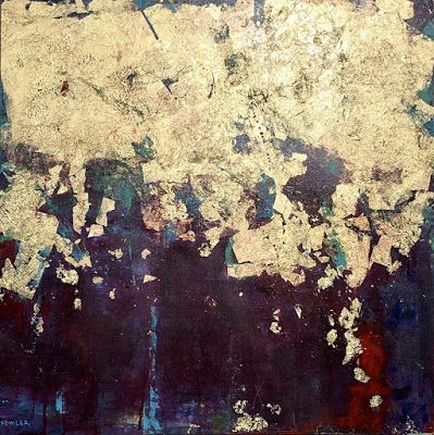 """Mixed Media, Contemporary Abstract Expressionist Painting, """"WE ARRIVE COMPLETE"""" by Abstract Artist Pamela Fowler Lordi"""
