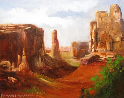 Arches Park Utah,oils on canvas,Barbara Haviland