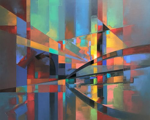 Bold Brushstrokes Energize Abstract, Pixelated Landscapes by Artist Jason Anderson