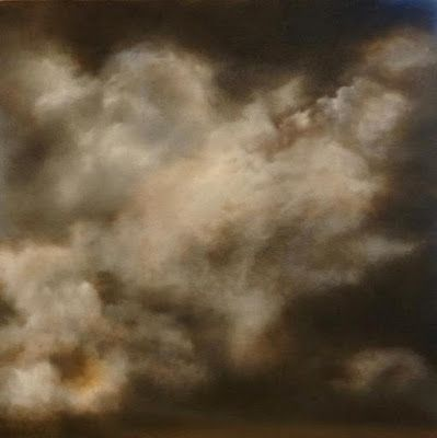 """Skyscape Painting, Clouds, Fine Art Oil Painting """"Impending"""" by California Artist Cecelia Catherine Rappaport"""
