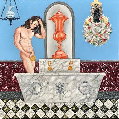 """Neptune's Bathroom"" By Creole Folk Artist Andrew LaMar Hopkins"