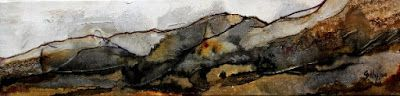 """Abstract, Mixed Media Landscape, """"Foothills"""" by Colorado Mixed Media Abstract Artist Carol Nelson"""