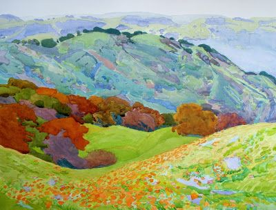 """Seven Layers of Spring"" juried into California Art Club's 107th Annual Gold Medal Exhibition, opening June 9th"
