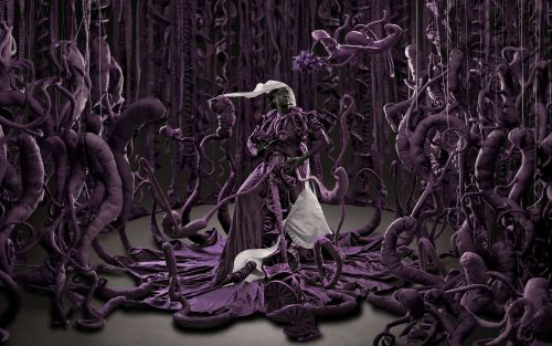 Sprawling Roots and Richly Hued Gowns Permeate Mary Sibande's Postcolonial Artworks