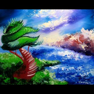 Mark Webster - Abstraction 18 - Abstract Landscape Oil Painting