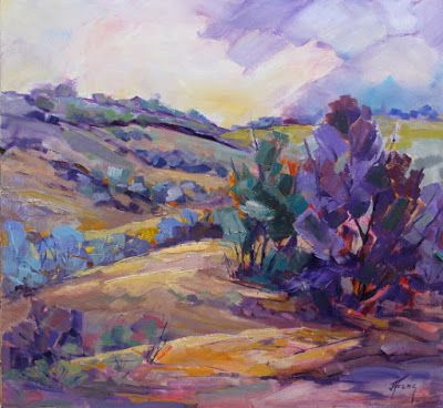 """Impressionist Landscape, Mountain Landscape, Trees, Fine Art Oil Painting """"Summer Melody"""" by Colorado Contemporary Fine Artist Jody Ahrens"""
