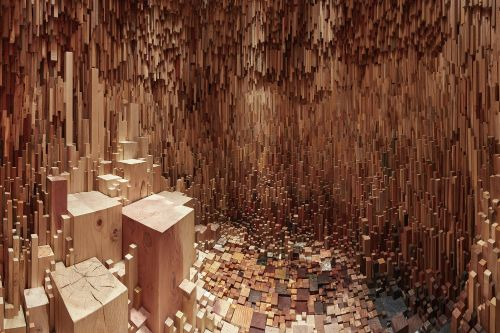 Over 10,000 Tree Samples Compose a Modular Cave-Like Installation at the Royal Fort Gardens
