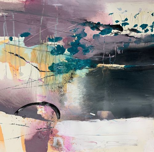 """Contemporary Abstract Landscape Art Painting """"Transformation"""" by Intuitive Artist Joan Fullerton"""