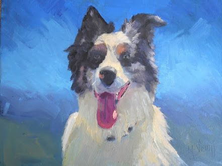 Pet Portrait, Doggie Painting, Small Oil Painting, Daily Painting