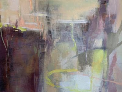 """Contemporary Abstract Painting, Expressionism """"CRYPTIC SPIRITS"""" by Intuitive Artist Joan Fullerton"""