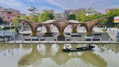 Huanglong Waterfront Bamboo Pavilion / Atelier cnS + School of Architecture, South China University of Technology