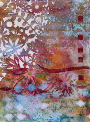 """Contemporary Abstract Floral Art Painting """"Flowers Forever"""" by Santa Fe Contemporary Artist Sandra Duran Wilson"""