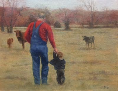 Father's Day Paintings by Julie Beth Wileman