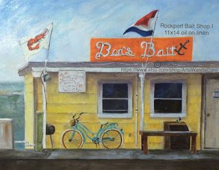Rockport Bait Shop I by Wanda Caro