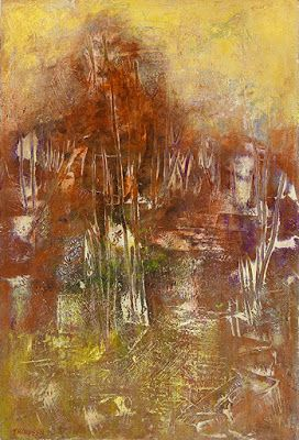 """Contemporary Art, Abstract Painting, Expressionism, Mixed Media """"PRIMORDIAL PERSEVERANCE II"""" by Contemporary Artist Liz Thoresen"""