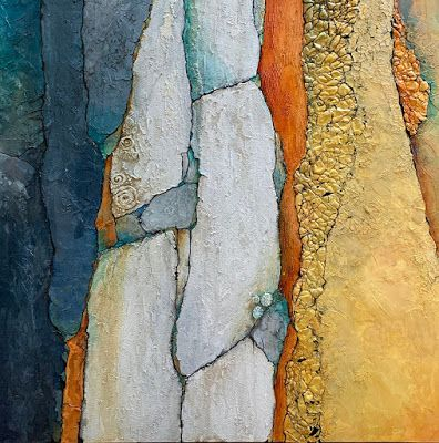 """Oversized Geologic Abstract Painting, """"Colorado Medley"""" © Carol Nelson Fine Art"""