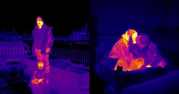 Photographer Shoots Thermal Photos of the Homeless in the Winter