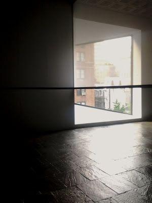"Robert Irwin on ""Scrim Veil-Black Rectangle-Natural Light (1977)"" recently at the Whitney"