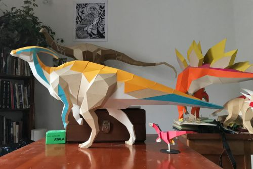 Handcut Paper Models by Seba Naranjo Welcome Dinosaurs Back From Extinction
