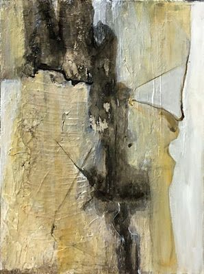 "Contemporary Abstract Mixed Media Painting ""Abstract I"" by California Artist Cecelia Catherine Rappaport"