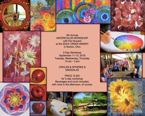 Upcoming WORKSHOP at the WINERY