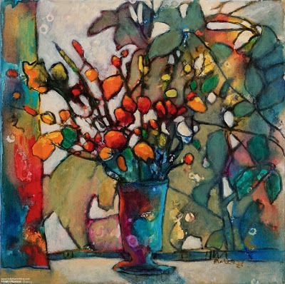 "Colorful Contemporary Still Life Painting, ""Transitions"" by Passionate Purposeful Painter Holly Hunter Berry"