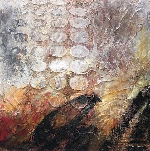 """Contemporary Art, Abstract Painting, Expressionism, Mixed Media, """"Timeworn-1"""" by Contemporary Artist Liz Thoresen"""