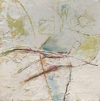 """Contemporary Abstract Painting,Expressionism Art """"Thinking Outside the Box"""" by Oklahoma Artist Nancy Junkin"""