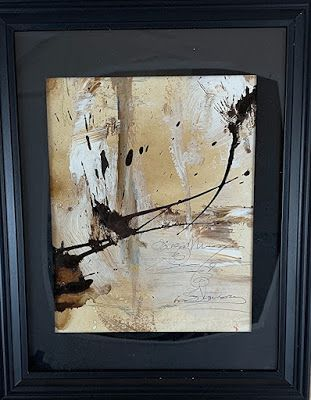 """Abstract Art, Mixed Media, Contemporary Painting, """"Rearranged"""" by Texas Contemporary Artist Sharon Whisnand"""
