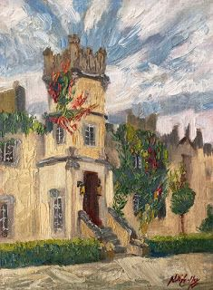 """""""Majestic Residence"""" - New Irish Castle Painting by Niki Gulley"""