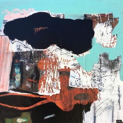 "Contemporary Art, Abstract,Expressionism, Studio 9 Fine Art ""We All Live in a Rusty Submarine"" by International Abstract Artist Amanda Saint Claire"