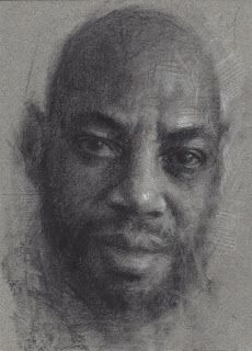 African American male portrait drawing