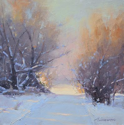 "DPW Auction: Crest of the Road - oil - 8""x8"" - SOLD!"